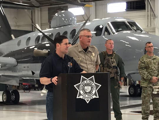 Gov. Doug Ducey and DPS Director Colonel Frank Milstead
