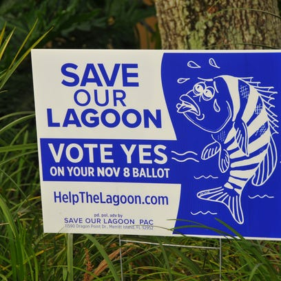 Save Our Lagoon signs have been appearing around the