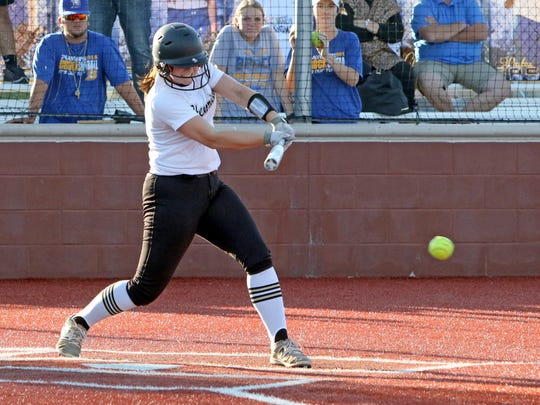 Henrietta senior Maddie Brown led the area in home runs for a second straight season.