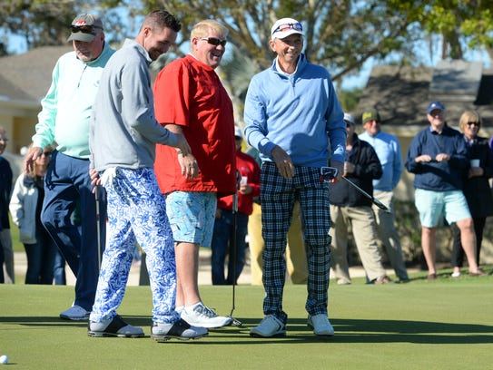 Professional golfer John Daly was in attendance at