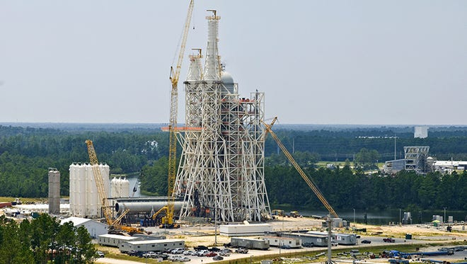 A-3 test stand at Stennis Space Center in Hancock County, Miss.