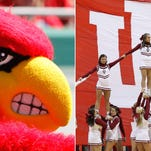 Oct 26, 2013; Tampa, FL, USA; Louisville Cardinals mascot, Louie the Cardinal Bird, against the South Florida Bulls during the second half at Raymond James Stadium. Mandatory Credit: Kim Klement-USA TODAY Sports