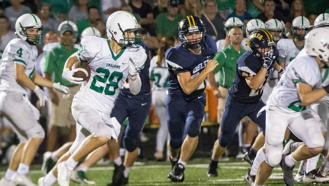 Delta took on New Castle for their homecoming game on Sept. 22 at Delta High School. Delta won the game 56-49.
