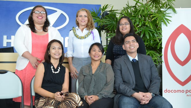 Semifinalists for the 2016 Teacher of the Year award are photographed in Maite on March 29. Standing, from left:  Leonora Balajadia, Okkodo High School; Graziella Griffin, George Washington High School, and Patricia Anub, F.B. Leon Guerrero Middle School. Seated from left:  Gracelle Canar, Upi Elementary School; Rochelle Diaz, Maria A. Ulloa Elementary School; and Richard Velasco, F.B. Leon Guerrero Middle School.