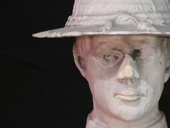 The Doughboy statue from the downtown square in Mansfield