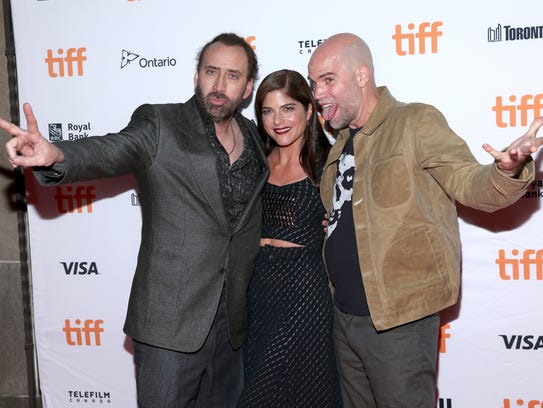 """The """"Mom and Dad"""" team — stars Nicolas Cage (from left),"""
