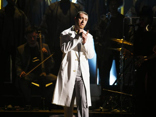 Sam Smith performs onstage during the 60th Annual GRAMMY