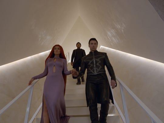 Serinda Swan as Medusa, Iwan Rheon as Maximus and Anson
