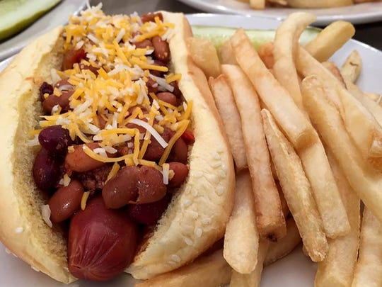 The chili dog at Miracle Mile Deli in Phoenix.