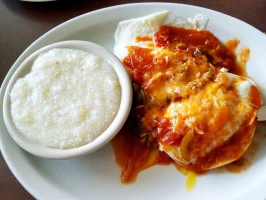 Maria's Cafe's huevos rancheros special was corn tortillas