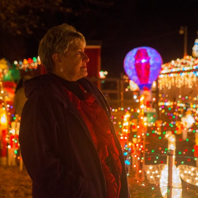 Lorraine Talarico-Smith looks out at the sea of holiday
