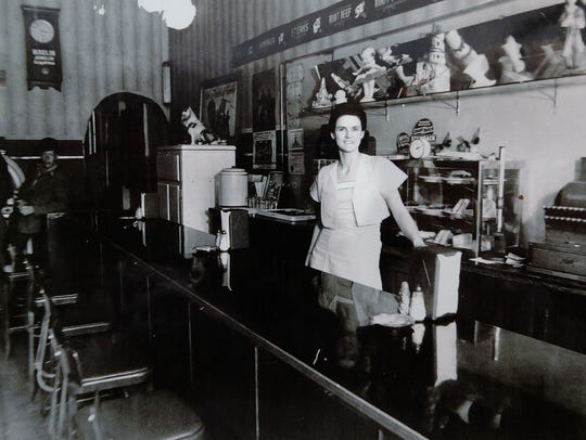 An undated photo of Maynie Tucker at Tucker's Restaurant.
