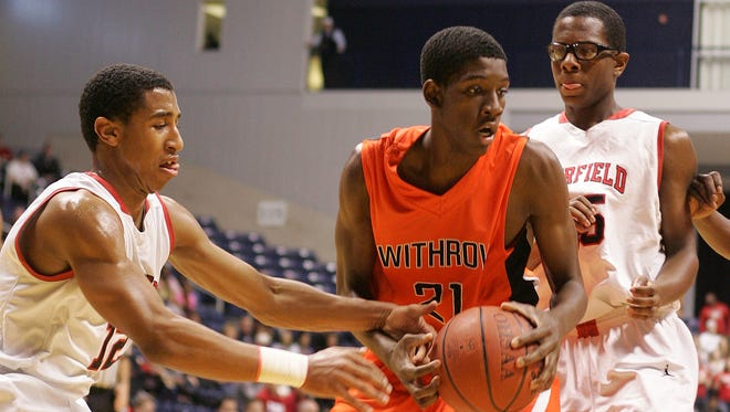 Withrow's Lamont West faces Fairfield in March of 2014.