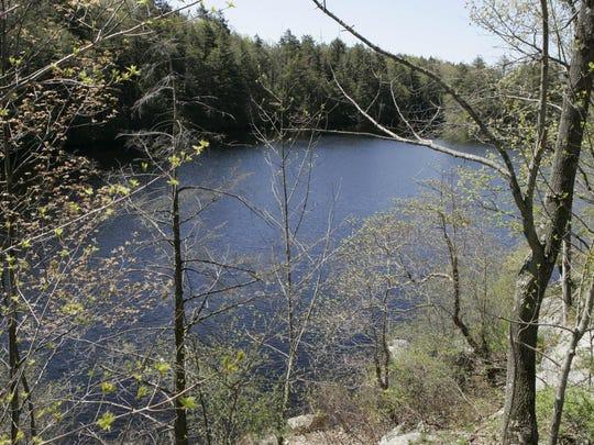 Pelton Pond at Fahnestock State Park.