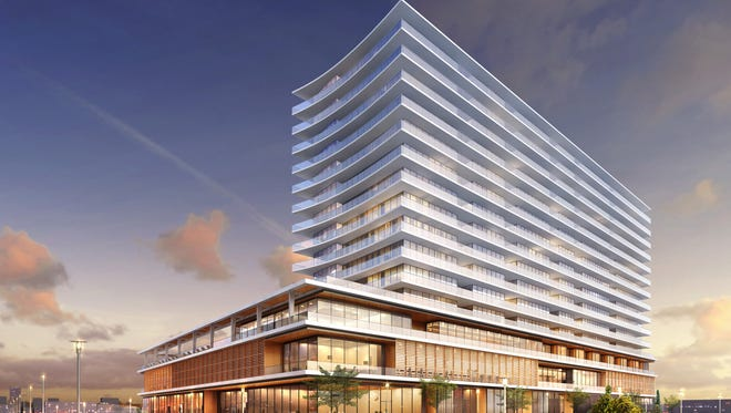 The Esperanza site will be redeveloped with a 16-story condo and hotel building.