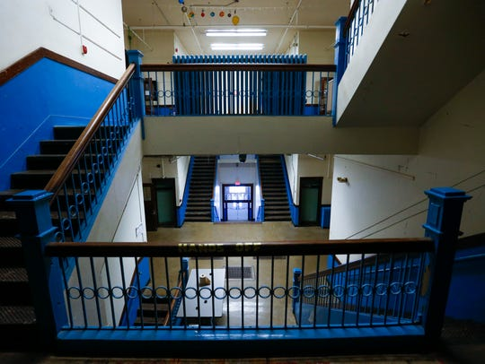 Inside the vacant Pepperdine School building on Tuesday,