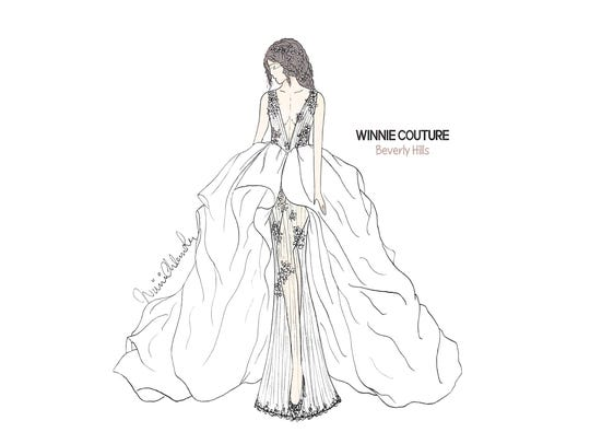 Winnie Couture wedding dress, designed for Lea Michele