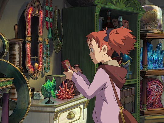 """A girl's life is changed by an enchanted plant in """"Mary and the Witch's Flower."""""""