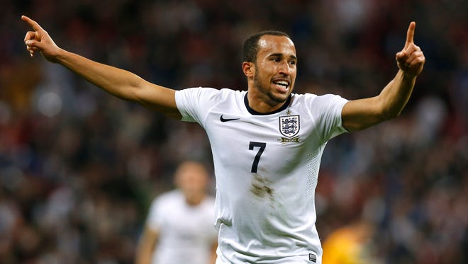 Andros Townsend scored against Montenegro in his debut for England, a crucial goal in World Cup qualifying.