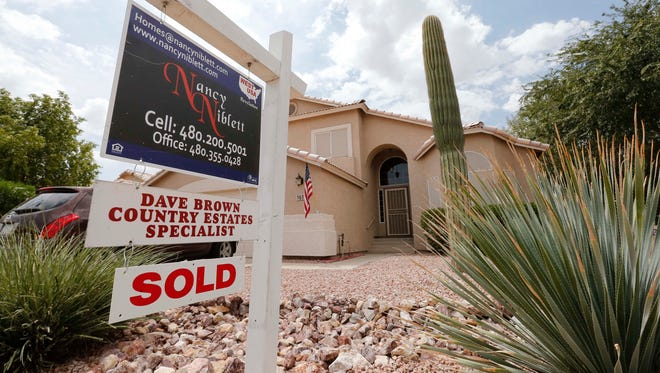 A just-sold home in Gilbert, Ariz.