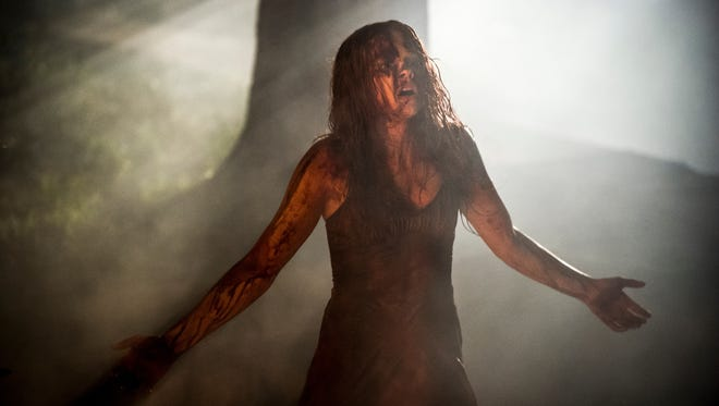 Chloe Moretz stars in the titular role in 'Carrie,' the only horror movie scheduled for the pre-Halloween weekend this year.