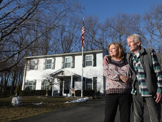 """An American flag flies from a 30-foot flagpole in the Curtins' front yard — a gift from the maintenance garage where the elder Michael Curtin repaired taxis and trucks. A plaque nearby bears the word """"Jersey"""" — Cpl. Curtin's nickname among his Army comrades."""