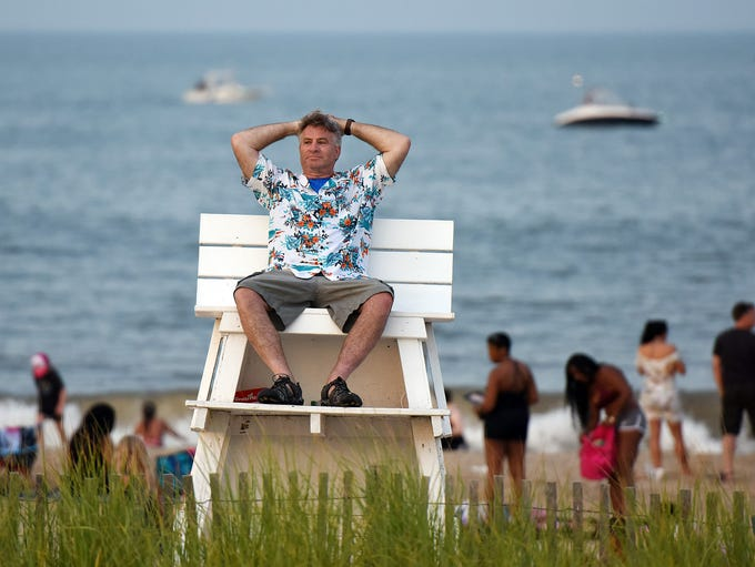 Fireworks were held in Rehoboth Beach on Sunday, July