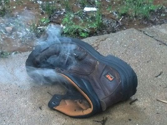 & Man survives after lightning strike blows him out of boots azcodes.com