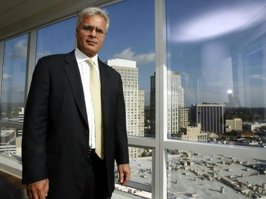 Developer Louis Cappelli in 2007, on the 22nd floor of the South Tower of the Ritz-Carlton in White Plains, which his firm built.