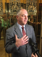 "Gov. John Bel Edwards said Monday he ""remains committed"