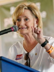 U.S. Sen. Cindy Hyde-Smith, R-Miss., reminds voters