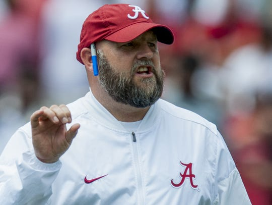 Alabama offensive coordinator Brian Daboll during the
