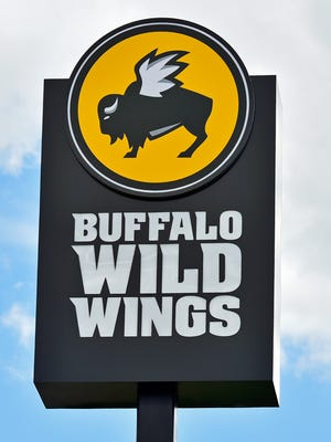 Buffalo Wild Wing restaurant sign.