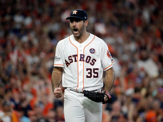 Justin Verlander strikes out 13 in Game 2.