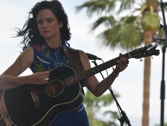 Nikki Lane performs on the Palomino Stage at Stagecoach
