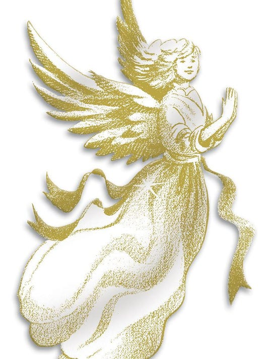 christmas wish angel gold