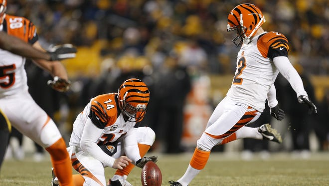 Mike Nugent only attempted 22 field goals last year, connecting on 18. His 82 percent conversion was better than only seven regular kickers.