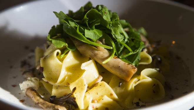 Wild mushroom pappardelle from Twisted Grove Parlor+Bar in Scottsdale November 9, 2015.