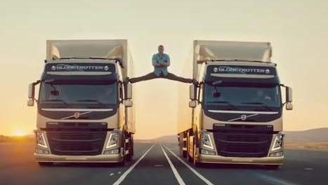 Jean Claude Van-Damme shows his flexibility in a new Volvo truck video.