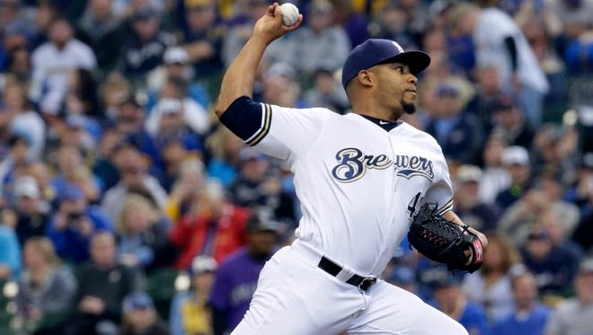 Brewers pitcher Junior Guerra injured his calf in his opening day start against Colorado on April 3.