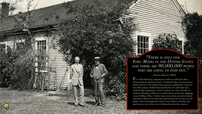 A new exhibit, opening Sunday, shows the lives of Thomas Edison, Henry Ford and their families' time in Fort Myers.