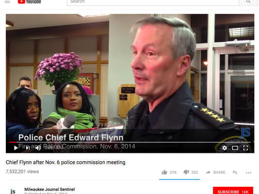 Chief Edward Flynn talks to the reporters in 2014