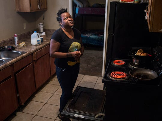 January 03, 2018 - Kassie Small stands in the kitchen