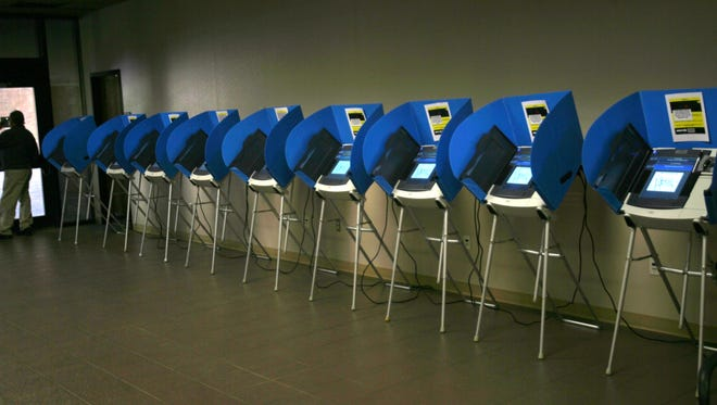 Voting machines at the El Paso County Courthouse