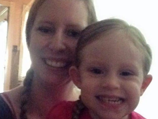 Murder victim Sharon Williams, seen here with 3-year-old daughter Lea.