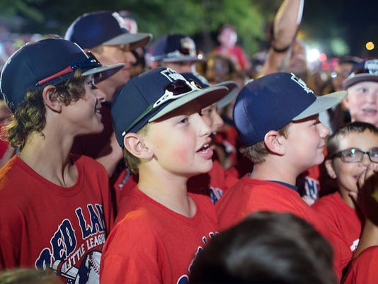 When the Red Land Little League team returned home late Sunday night, they were greeted by a large gathering of fans and followers.