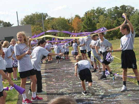 Here is the finish line for the St. Timothy School