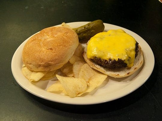 A cheeseburger at Barnacle Bill's in Rumson.