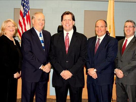 The One Ocean team is left to right, Councilwoman Donna Schepiga, Councilman Richard H. Long, Mayor Christopher P. Siciliano, Deputy Mayor William Garofalo and Robert Acerra.