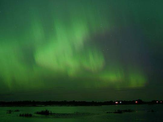 The northern lights don't appear in Wisconsin often, but they might be visible Thursday night.